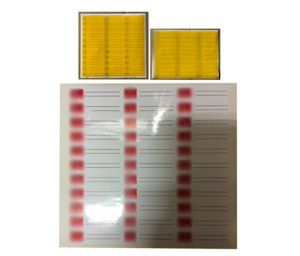 Étiquette adhésive en planches