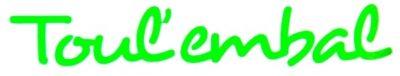 """""""Toul'Embal"""" sous forme de lettres découpées en vinyle adhésif vert"""