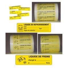 Étiquette moteur