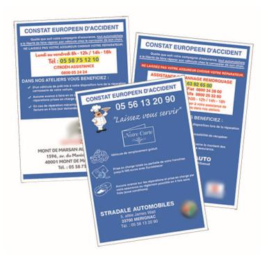 Constat européen d'accident personnalisé