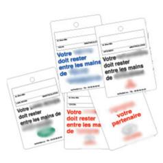 Etiquette porte-clés standard ou personnalisée