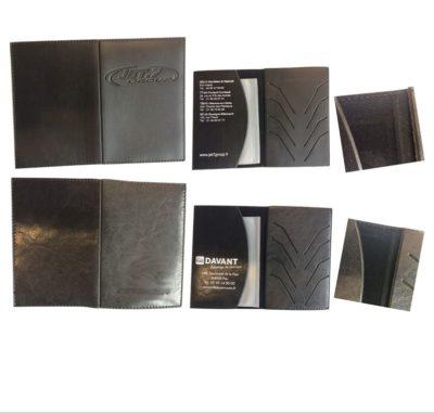 Porte carte grise simili lisse premium et marbré standard