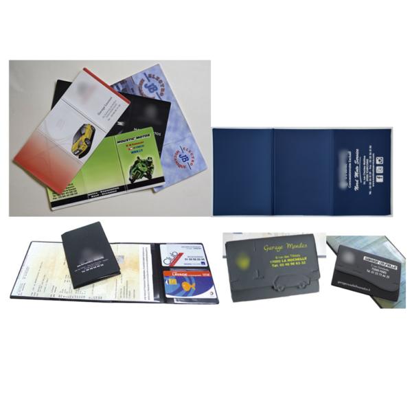 Porte carte grise PVC gommé