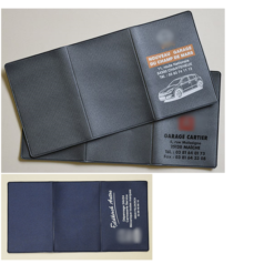 Porte carte grise toilé