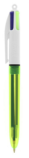 """Version """"FLUO"""" du stylo bille Bic 4 couleurs"""