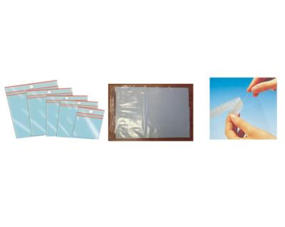 Sachets plastiques avec fermeture zipou rabat adhésif