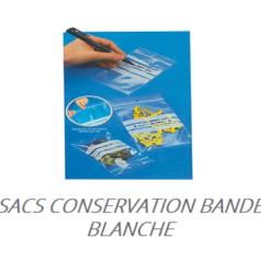 Sacs conservation bande blanche