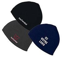 3 exemples de bonnet personnalisé en broderie au logo de Toul'Embal.