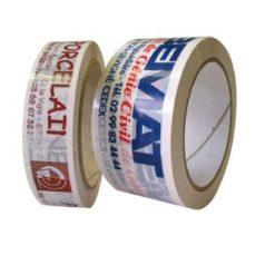 Voici notre Ruban adhésif PP hotmelt neutre ou imprimé, ici il y a 2 rouleaux imprimés