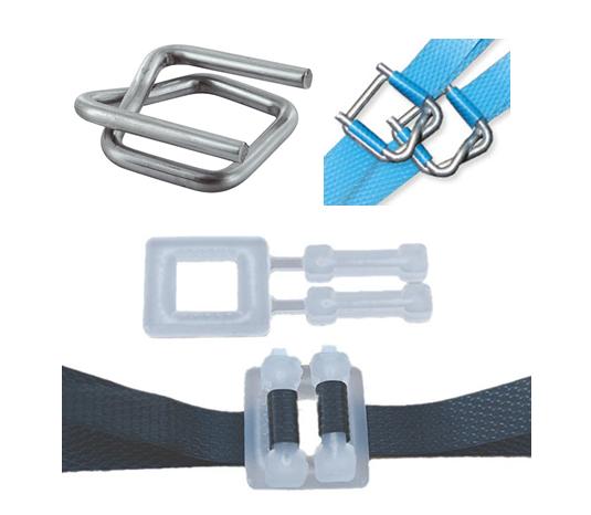Boucles métalliques et plastiques