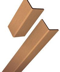 Ici vous pouvez voir 2 cornière de protection en carton l'une à côté de l'autre, on voit bien que c'est un angle à 90 degrés.