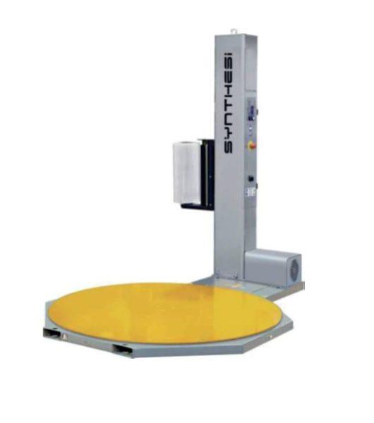 Découvrez notre produit machine banderoleuse plateau tournant. Ici, se trouve une banderoleuse.
