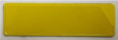 Découvrez notre porte etiquette magnetique. Ici se trouve un porte etiquette magnetique avec un fond jaune et un support transparent à l'avant qui permet d'inserer une etiquette.