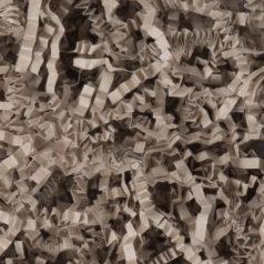 Ici se trouve la frisure de couleur en papier kraft recycle de couleur naturelle.