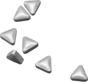 Pastilles triangulaires argentées à la menthe, 8 mm, DLUO env. 18 mois, 20 g
