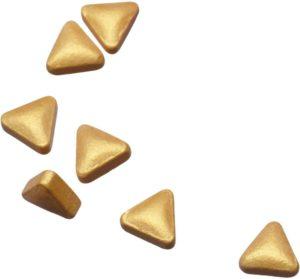 Pastilles triangulaires dorées à la menthe, 8 mm, DLUO env. 18 mois, 20 g