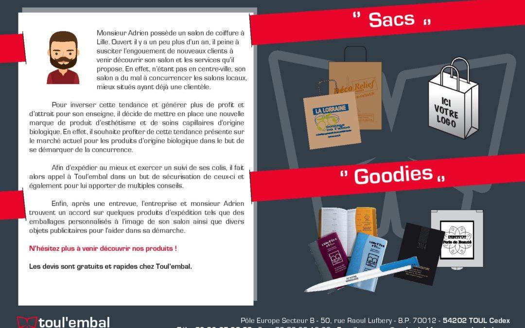Expérience client n°14 : sacs et goodies