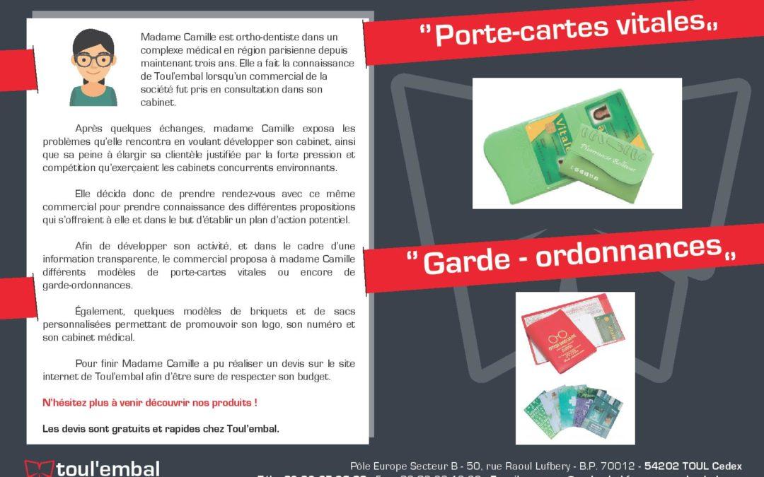 Expérience client n°18 : Porte-cartes vitales et garde-ordonnances