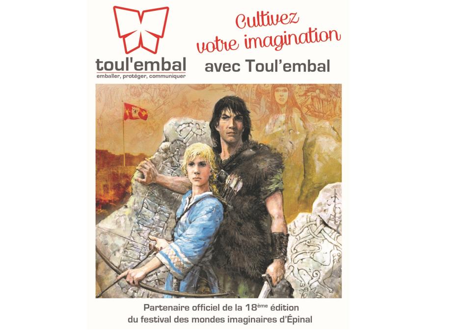 Toul'embal partenaire du festival des mondes imaginaires d'Epinal du 23 au 26 mai 2019 :  Les Imaginales