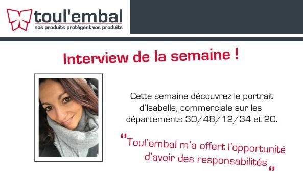 Interview de notre chef des ventes : Isabelle