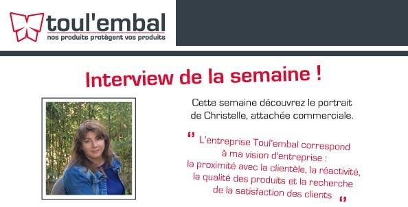 Interview de notre attachée commerciale : Christelle