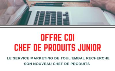 Offre de CDI – Chef de produits Junior