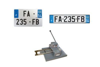 Plaque d'immatriculation alu auto-moto FAAB