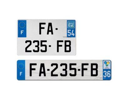 Plaque d'immatriculation plexi auto FAAB